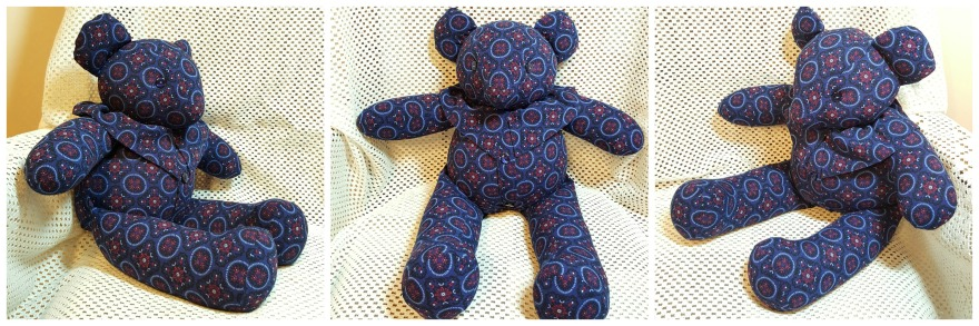 Peggy Blue Bear Collage